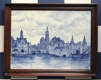Tegel Delfts Blauw : Delft tegel etsy