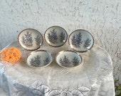 Koransha 5 Plate Set Five Kozara 金彩 竹林 文 quot Gold Bamboo Grove Statement quot Dish Old Pattern Porcelain Sauce Bowl Namasu Meiji Period Arita Japan