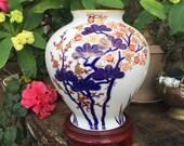 Koransha Large Vase Imari Kakiemon Style Vaas Four Seasons 菊 Chrysanthemum 花王 Peony 桜花 Cherry 梅 Plum 松 Pine Jar Porcelain Urn Japan Free SH