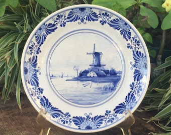 Modest Porceleyne Fles Delft Tile Delf Pottery & Glass Art Pottery