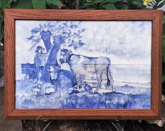 Tegel Delfts Blauw : Decor tegels cm delfts blauw keuken tegels streker tegelhuis