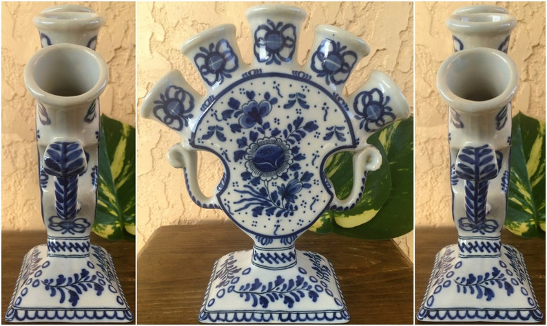 Art Pottery Set Of 4 Vintage Delft Blue & White Holland Dutch Windmills Ashtrays More Discounts Surprises