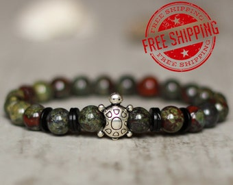 turtle bracelet animal bracelet with turtle green bracelet turtle jewelry wholesale gift for men bracelet men gift for birthday men gift