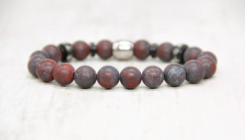Dark custom bracelet with engraving for men