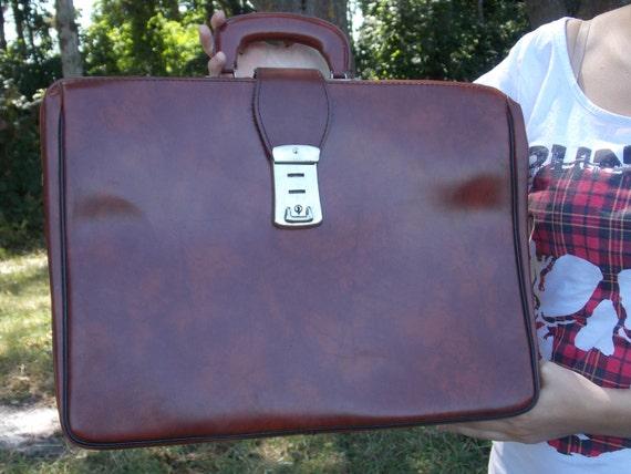 Soviet Vintage Briefcase Travel Bag Big Laptop Bag