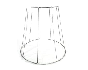 Wire lampshade frame etsy vintage lampshade wireframe h 44cm top 29cm bottom 525cm greentooth Images