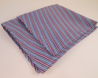 Purple and Blue Striped Pocket Square