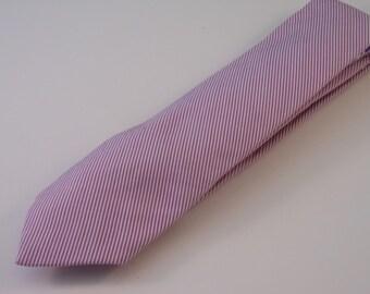 Mini Striped Pink Necktie