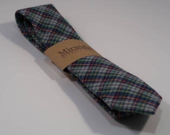 Super soft multi-color plaid flannel necktie