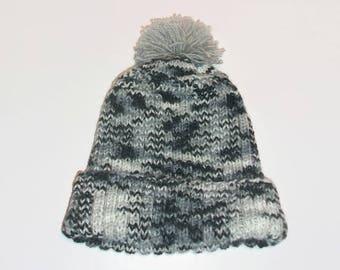 Heather black woolen men Hat
