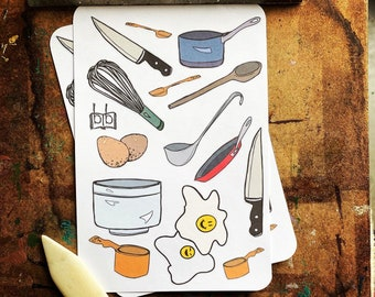WHISK ME UP -- 14 Cooking Stickers for Kitchen Babes, Home Cooks, and Head Chefs