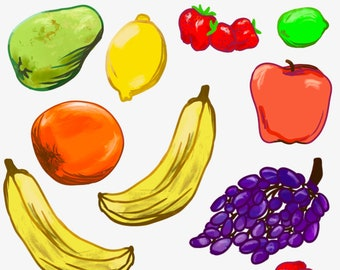FRUIT'S CUTE! -- 18 Citrus and Tropical Fruit Stickers for Healthy Snackers, Kitchen Babes, Home Cooks, and Head Chefs