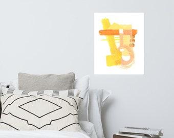 Yellow Collage Print 1