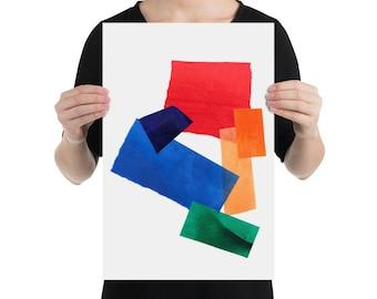 Color Wheel Collage Print