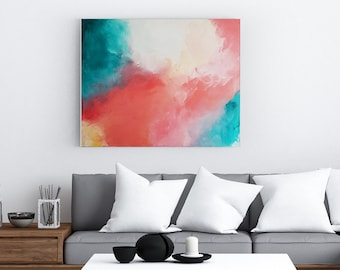 Hope Persists - Acrylic abstract wall art by Margaret Lipsey. Colorful and expressive artwork for your home or office.