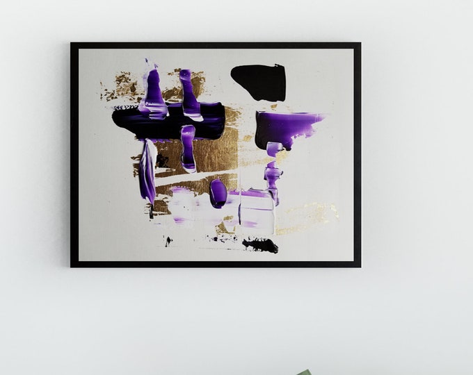 Original Acrylic abstract wall art by Margaret Lipsey. Expressive minimal artwork for your home or office. -  Floating