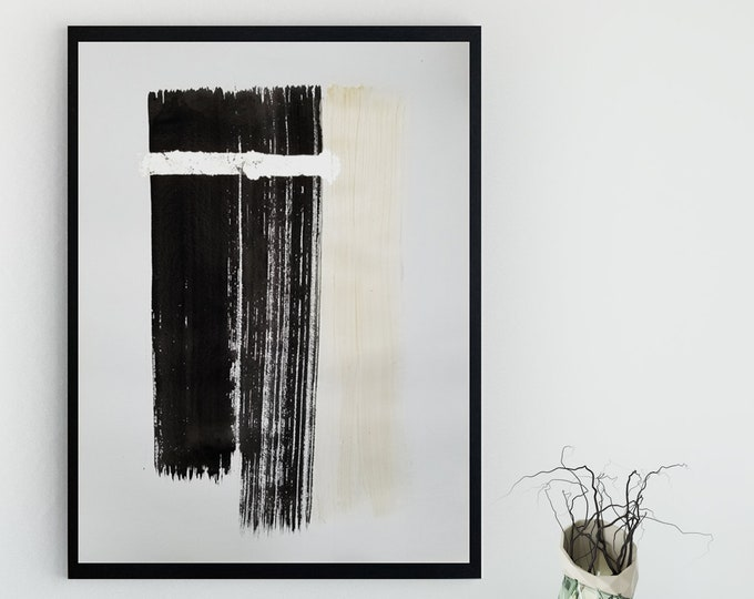 Original Acrylic abstract wall art by Margaret Lipsey. Expressive minimal artwork for your home or office. -  I Will Create From My Soul