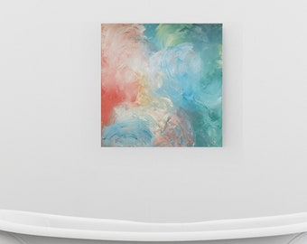 Everything Fell Into Place - Acrylic abstract wall art by Margaret Lipsey. Colorful and expressive artwork for your home or office.