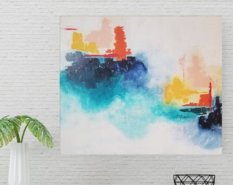 Abstract Landscape Painting, Modern Art for Home or Office Decor