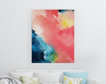 Embrace the Change - Acrylic abstract wall art by Margaret Lipsey. Colorful and expressive artwork for your home or office.