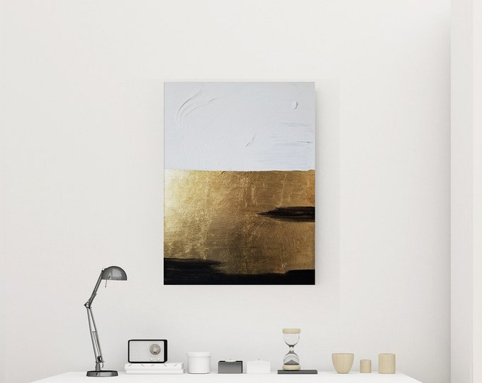 Original Acrylic abstract wall art by Margaret Lipsey. Expressive minimal artwork for your home or office. -  Settling into Tranquility