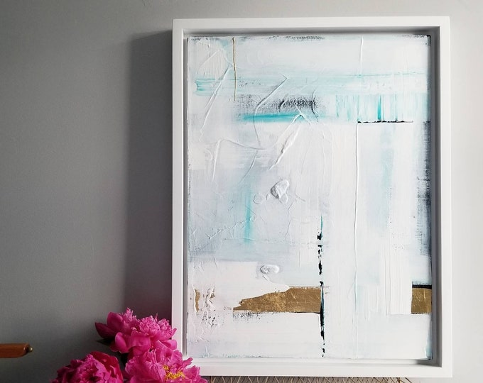 Original Acrylic abstract wall art by Margaret Lipsey. Expressive minimal artwork for your home or office. -  Precious Privilege