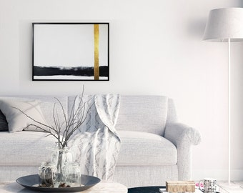 Original Acrylic abstract wall art by Margaret Lipsey. Expressive minimal artwork for your home or office. -  Transparency of a Dream