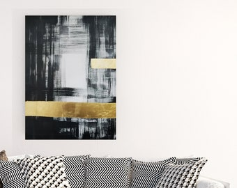 Original Acrylic abstract wall art by Margaret Lipsey. Expressive minimal artwork for your home or office. -  The Soul that Lies Within