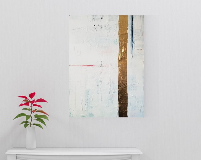 Textured Acrylic abstract wall art by Margaret Lipsey. Colorful and expressive artwork for your home or office. - What Remains Unspoken