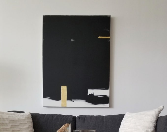 Original Acrylic abstract wall art by Margaret Lipsey. Expressive minimal artwork for your home or office. -  Traces of Light
