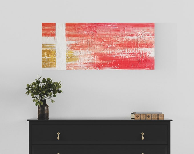 Original Acrylic abstract wall art by Margaret Lipsey. Expressive minimal artwork for your home or office. -  Visibility