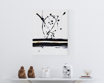 Original Acrylic abstract wall art by Margaret Lipsey. Expressive minimal artwork for your home or office. -  Release