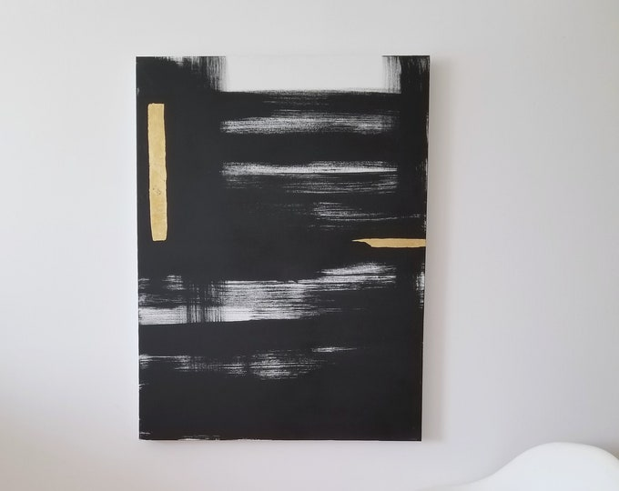 Original Acrylic abstract wall art by Margaret Lipsey. Expressive minimal artwork for your home or office. -  Shine Through