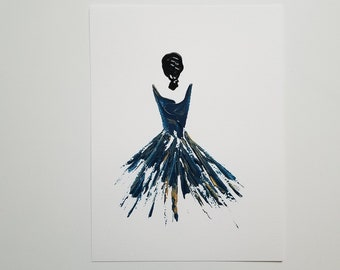 Woman in Blue 3