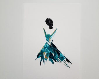 Woman in Turquoise 1