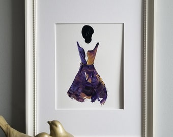 Purple and Gold - Women of Strength on Paper