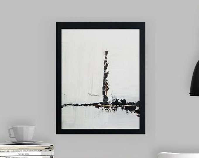 Black and white art work by Margaret Lipsey. Minimal wall art for your home or office. - Built from Stable Ground