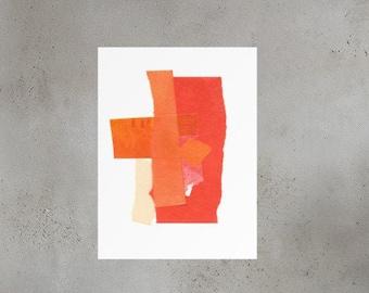 Orange Collage Print 2