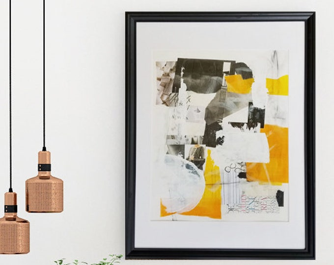 Featured listing image: Large Collage Abstract Wall Art for Home or Office