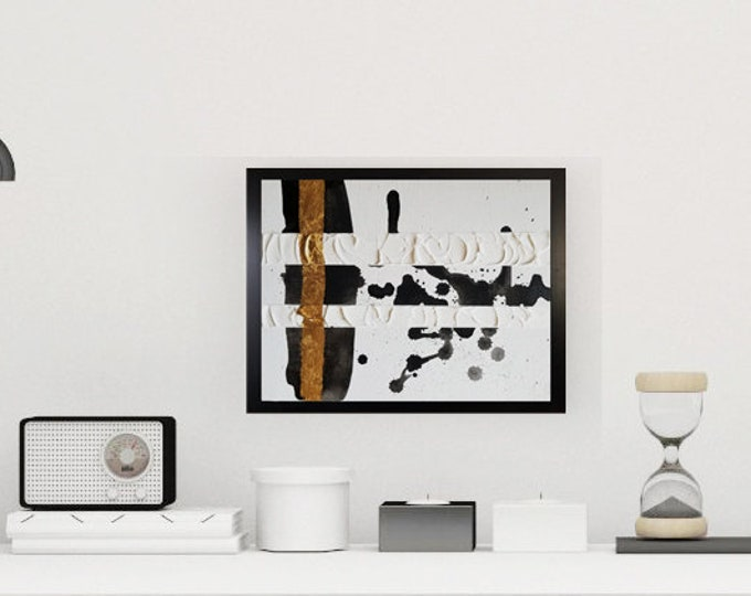 Black and white art work by Margaret Lipsey. Minimal wall art for your home or office. - You Can't Hide Forever