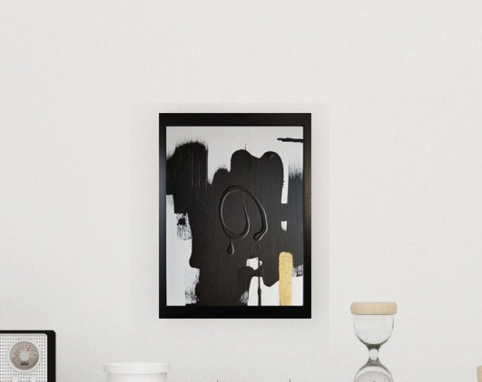 Black and white art work by Margaret Lipsey. Minimal wall art for your home or office. - Eternal Change