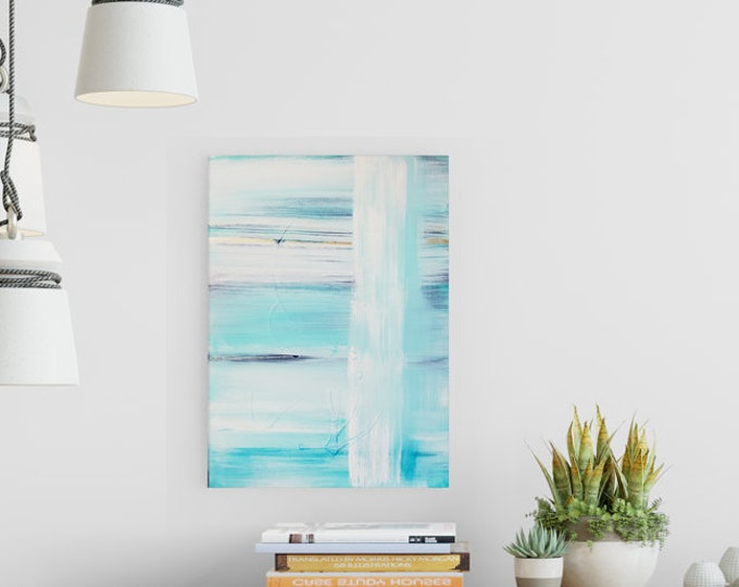 Textured Acrylic abstract wall art by Margaret Lipsey. Colorful and expressive artwork for your home or office. - Falling Water