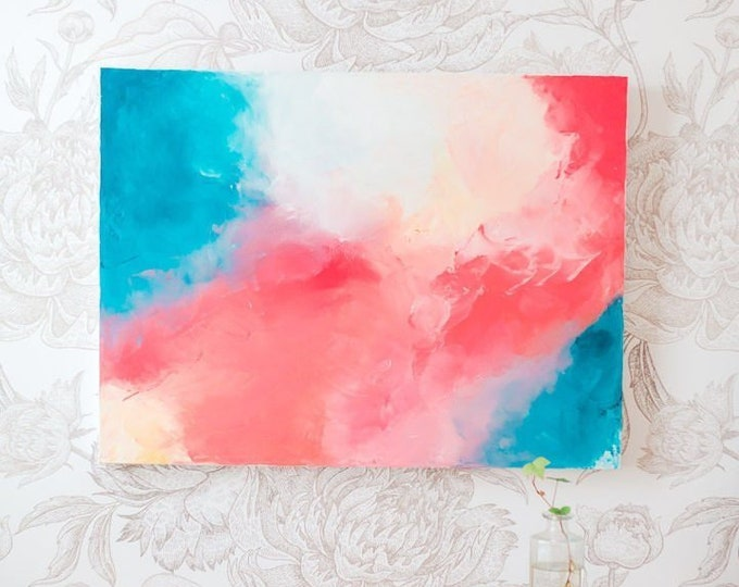Featured listing image: Hope Persists - Acrylic abstract wall art by Margaret Lipsey. Colorful and expressive artwork for your home or office.