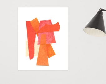 Orange Collage Print 1