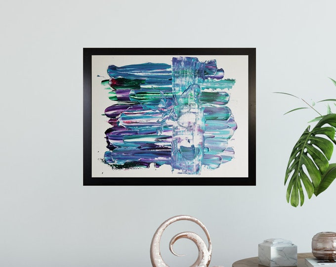 Textured Acrylic abstract wall art by Margaret Lipsey. Colorful and expressive artwork for your home or office. - Daily Bravery Number 8
