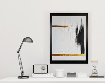 Black and white art work by Margaret Lipsey. Minimal wall art for your home or office. - Blindspot