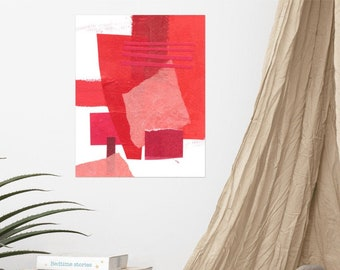 Red  Collage Print 1