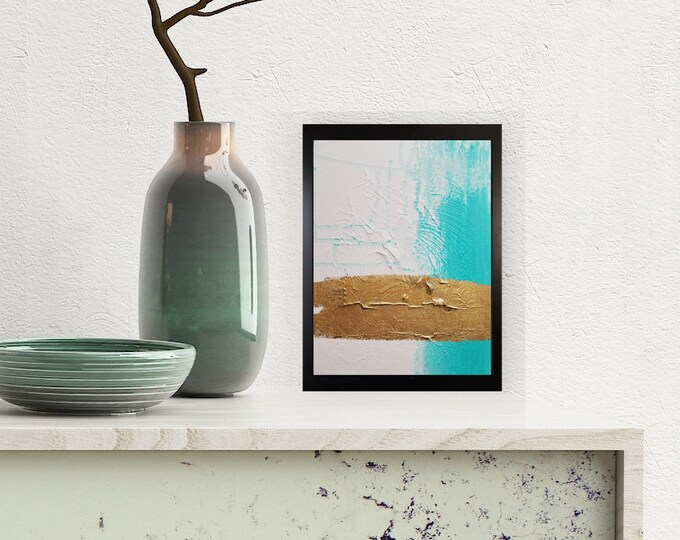 Textured Acrylic abstract wall art by Margaret Lipsey. Colorful and expressive artwork for your home or office. - Sunken Treasure