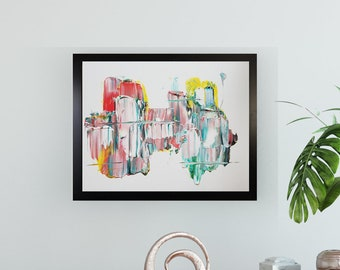 Textured Acrylic abstract wall art by Margaret Lipsey. Colorful and expressive artwork for your home or office. - Daily Bravery Number 2