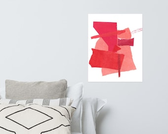 Red Collage Print 2